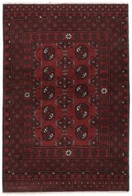 Afghan Matta 100X150 Äkta Orientalisk Handknuten Svart (Ull, Afghanistan)