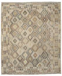 Kelim Afghan Old Style Matta 248X297 Äkta Orientalisk Handvävd Brun/Mörkbrun (Ull, Afghanistan)