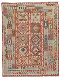 Kelim Afghan Old Style Matta 160X200 Äkta Orientalisk Handvävd Mörkbrun/Brun (Ull, Afghanistan)