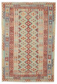 Kelim Afghan Old Style Matta 165X245 Äkta Orientalisk Handvävd Mörkröd/Brun (Ull, Afghanistan)