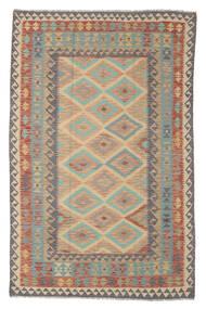Kelim Afghan Old Style Matta 165X255 Äkta Orientalisk Handvävd Mörkbrun/Vit/Cremefärgad (Ull, Afghanistan)