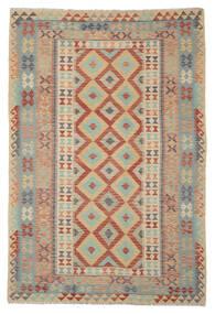 Kelim Afghan Old Style Matta 165X245 Äkta Orientalisk Handvävd Brun/Mörkgrön (Ull, Afghanistan)