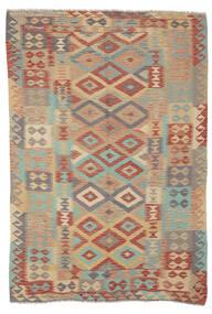 Kelim Afghan Old Style Matta 165X245 Äkta Orientalisk Handvävd Mörkbrun/Brun (Ull, Afghanistan)