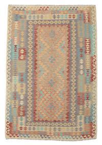 Kelim Afghan Old Style Matta 167X245 Äkta Orientalisk Handvävd Brun/Mörkbrun (Ull, Afghanistan)
