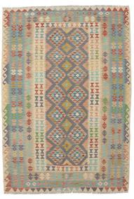 Kelim Afghan Old Style Matta 165X240 Äkta Orientalisk Handvävd Mörkbrun/Mörkgrön (Ull, Afghanistan)