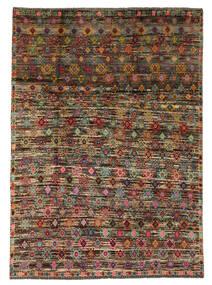 Moroccan Berber - Afghanistan Matta 207X290 Äkta Modern Handknuten Svart/Mörkbrun (Ull, Afghanistan)